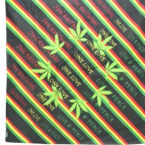 Bandana One Love Feuille Cannabis