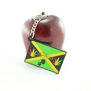 Porte-Clés Drapeau Jamaïque Cannabis