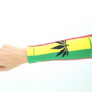 Manchette Avant-Bras Protection Soleil Marijuana