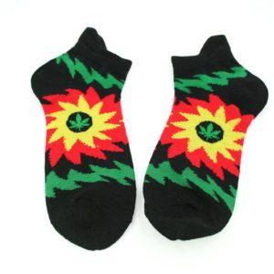 Chaussettes Noires Soleil Courtes Toutes Tailles