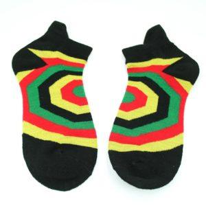 Chaussettes Geométriques Noires Courtes Toutes Tailles