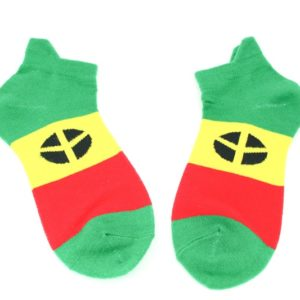 Chaussettes Peace and Love Blanches Courtes Toutes Tailles