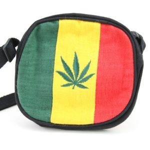 Sac Chanvre Rond Artisanal Feuille de Cannabis