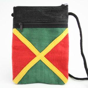 Sac Passeport Chanvre Drapeau Jamaïcain Zip