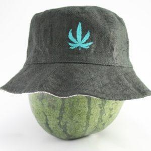 Bob Rasta Noir Feuille de Cannabis Brodée
