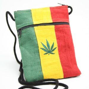Sac Passeport Chanvre Feuille Weed Zip