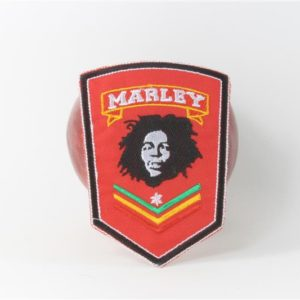 Ecusson Bob Marley Broderie Rouge A021a