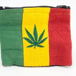 Porte-monnaie Chanvre Feuille de Cannabis Zip