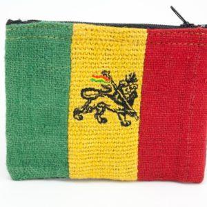 Porte-monnaie Chanvre Lion de Juda Zip