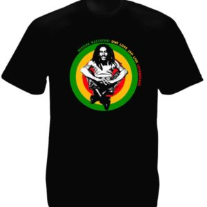 Jah Rastafari T-Shirt Noir Homme Bob Marley Collection en Coton