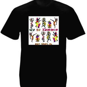 T-Shirt Noir Musique Reggae Key West Floride Manches Courtes