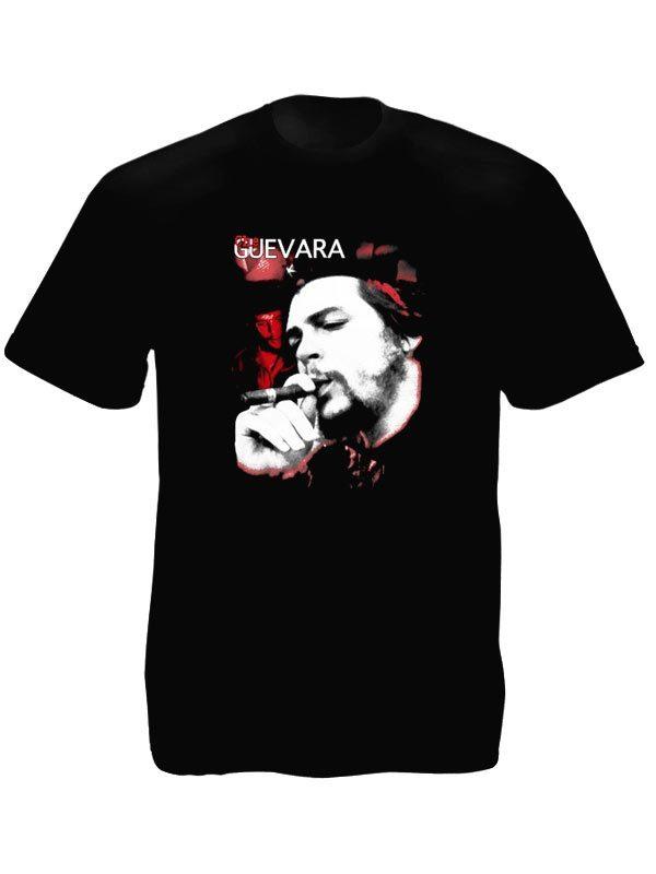 Che Guevara Tee-Shirt Noir Homme Inédit Héros de la Révolution en Coton