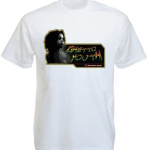 Ghetto Youth Tshirt Blanc Coupe Large pour Homme Manches Courtes