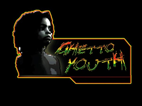 Tee-Shirt Noir Reggae Hip Hop Guetto Youth Homme Taille L