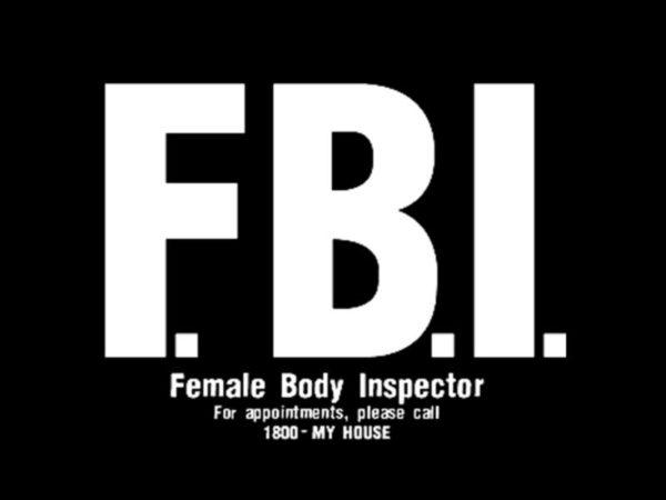 T-Shirt Noir FBI Rigolo Agent très Spécial en Coton Manches Courtes