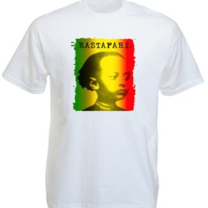 Look Rastafari T-Shirt Blanc avec Photo de Haïlé Sélassié Enfant