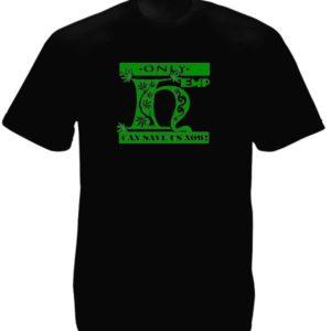 Tee-Shirt Noir Homme Ecologiste Révolution Chanvre pour nous Sauver