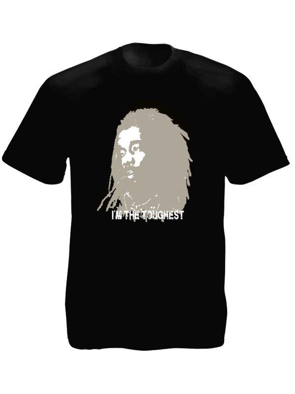 Tee-Shirt Noir Edition Limitée Peter Tosh Manches Courtes en Coton