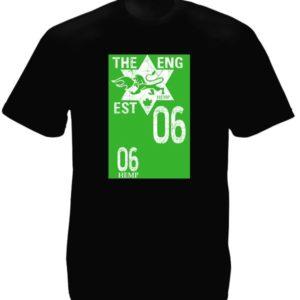 Tee-Shirt Noir Homme Image Chimère 06 Hemp en Coton Taille L