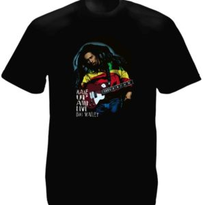 T-Shirt Noir Bob Marley and the Wailers Wake-Up Manches Courtes