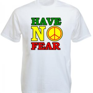 Reggae Tee-Shirt Blanc Dennis Brown Have No Fear Manches Courtes