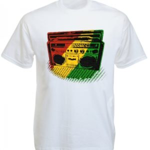 Tee-Shirt Blanc Sono pour Ecouter Roots Reggae Taille L