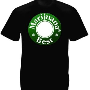 Tee-shirt Best Marijuana Noir